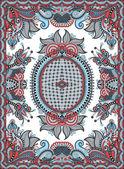 Ukrajinská orientální květinová okrasné koberec design — Stock vektor