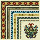 Floral vintage frame design. Vector set. — Stock Vector
