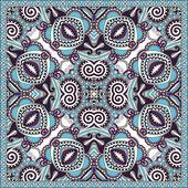 Silk neck scarf or kerchief square pattern design — Stock vektor