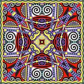 Traditional ornamental floral paisley bandanna. Square ornament — Stock vektor