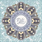 Round ornamental frame, circle floral background, mandala patter — Stockvektor