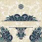 Invitation card with neat ethnic background, royal ornamental de — Vetor de Stock