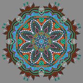 Beautiful vintage circular pattern of arabesques — Stock Vector