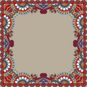 Floral vintage frame, oekraïense etnische stijl — Stockvector