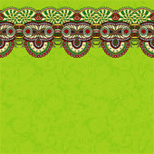 Ornamental background with flower ribbon, stripe pattern — ストックベクタ