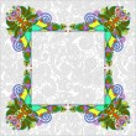 Floral frame, ethnic ukrainian ornament on paisley background — Stock Vector #56623291