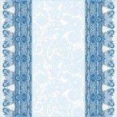 Decoratieve achtergrond met bloem lint, stripe patroon, greeti — Stockvector