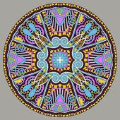 Ozdobny projekt szablonu danie koło, okrągłe geometrycznej patte — Wektor stockowy