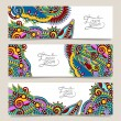 Set of three horizontal banners with decorative ornamental flowe — Stock Vector #56791537