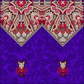 Oriental decorative template for greeting card or wedding invita — Vector de stock