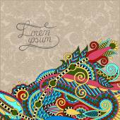 Paisley design on decorative floral background for invitation, p — 图库矢量图片