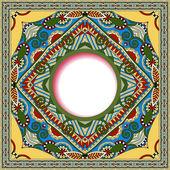 Floral ronde patroon in oekraïense oosterse etnische stijl voor uw — Stockvector