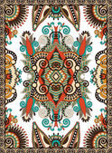 Ukrainian floral carpet design for print on canvas or paper, kar — Vettoriale Stock