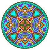 Decorative design of circle dish template — Stock Vector
