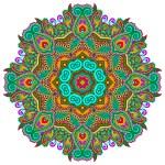 Beautiful vintage circular pattern of arabesques — Stock Vector #57073543