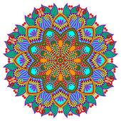 Mandala, circle decorative spiritual indian symbol of lotus — Stock vektor