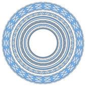 Blue colour set of round geometrical frames — Stock Vector