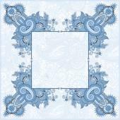 Blue colour frame, ethnic ukrainian ornament — Stock Vector