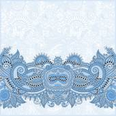 Blue colour paisley design on decorative floral background — Wektor stockowy