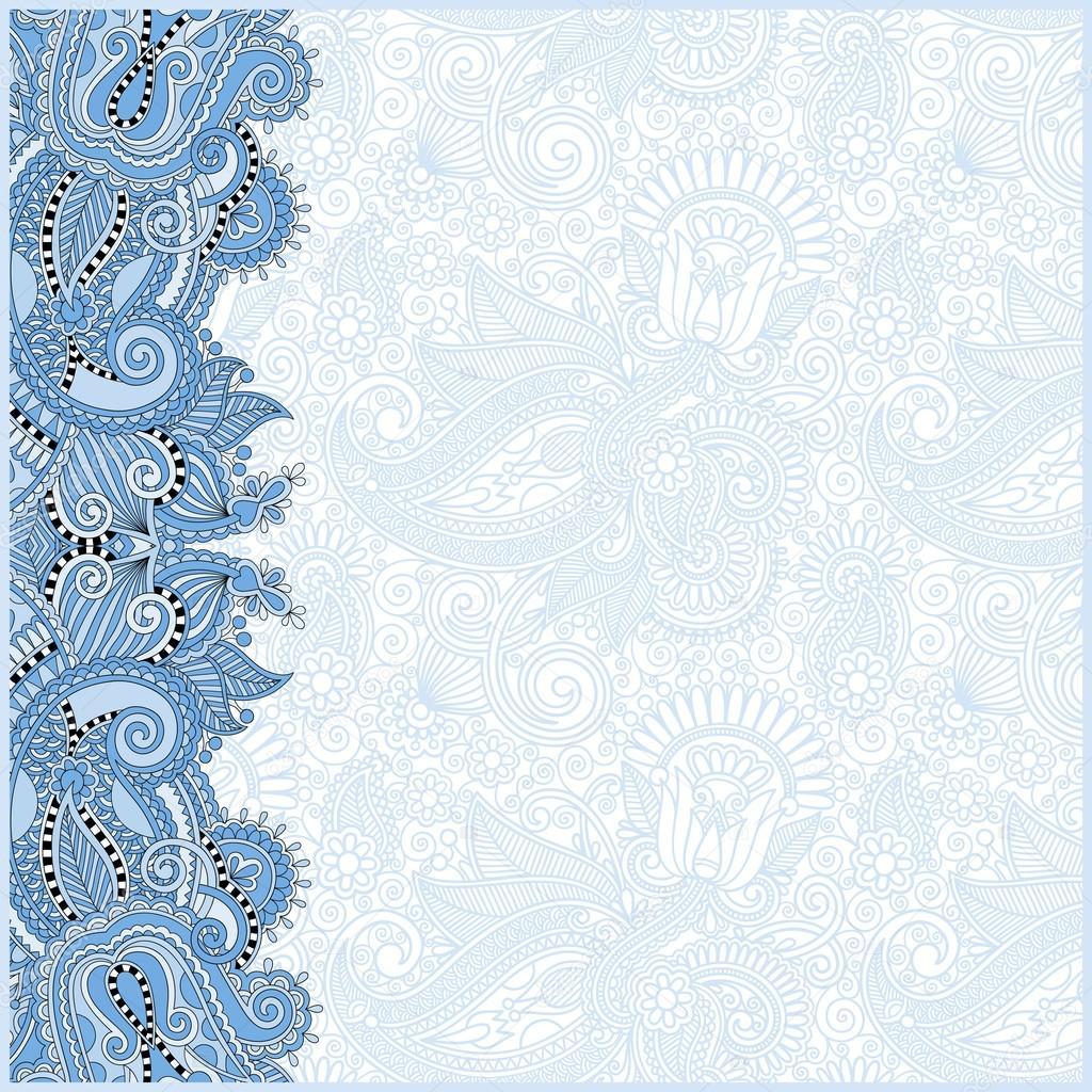 blue colour vintage floral background for your design