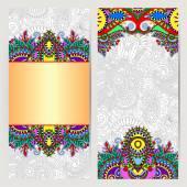 Декоративные этикетки карта для Винтаж дизайн, этническая картина — Cтоковый вектор