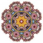 Beautiful vintage circular pattern of arabesques — Stock Vector #57319961