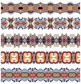 Seamless geometry vintage pattern, ethnic style — Stockvector