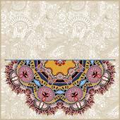 Patrón floral redondo en ucraniano oriental estilo étnico — Vector de stock