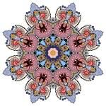 Beautiful vintage circular pattern of arabesques — Stock Vector #57320473