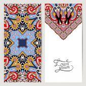 Decoratieve label kaart voor vintage design, etnische patroon — Stockvector