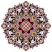 Mandala, circle decorative spiritual indian symbol of lotus — Stok Vektör