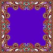 Floral vintage frame in violet colour — 图库矢量图片