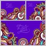 Set of floral decorative violet background — Stock Vector #57383725