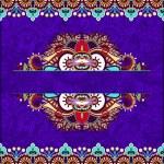 Floral decorative violet colour invitation card — Stock Vector #57383775