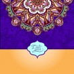 Islamic vintage floral violet colour pattern — Stock Vector #57393061
