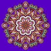 Violet colour mandala — Stock Vector