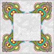 Floral frame, ethnic ukrainian ornament on paisley background — Stock Vector #57441003