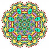 Mandala, circle decorative spiritual indian symbol of lotus flow — Stok Vektör