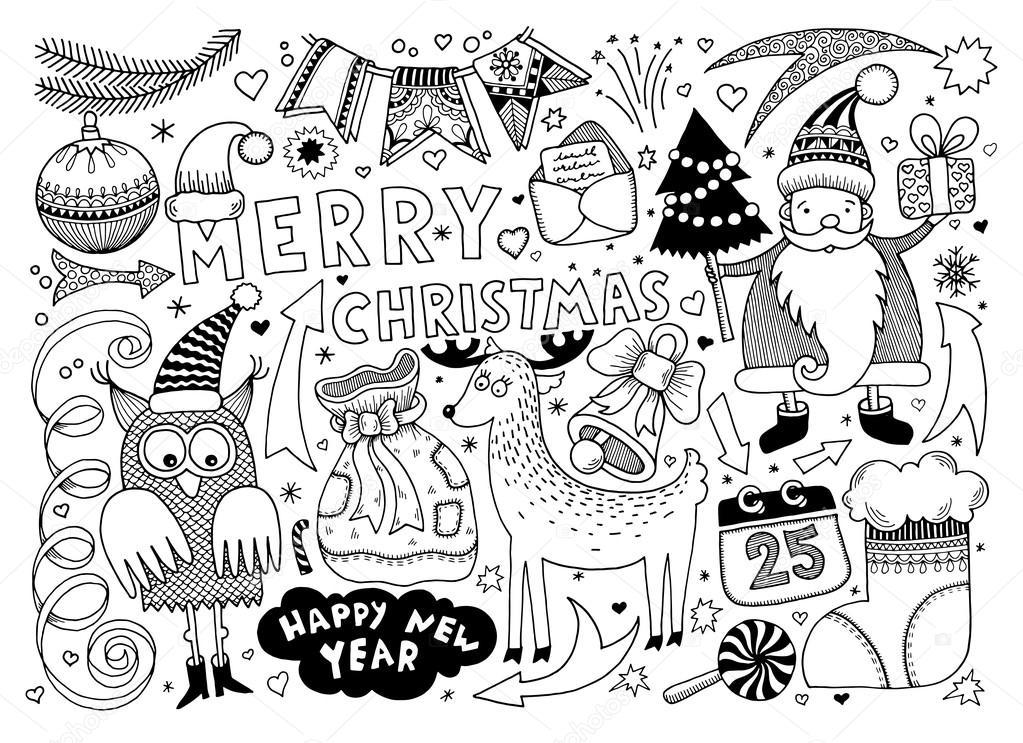 Картинки с новым годом 2017 год черно белые