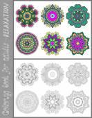 Page de livre à colorier pour les adultes - design paisley fleur — Vecteur