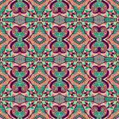Seamless geometry vintage pattern, ethnic style ornamental backg — Cтоковый вектор