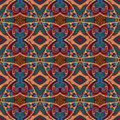 Seamless geometry vintage pattern, ethnic style — Vecteur