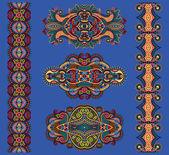 Ornamental floral adornment, vector illustration — Stock Vector