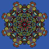 Spiritual indian symbol of lotus flower — Stok Vektör