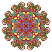 Decorative spiritual indian symbol of lotus flower — Stock Vector