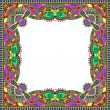 Floral vintage frame, ukrainian ethnic style. Vector illustratio — Stock Vector #63336451