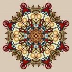 Vintage circular pattern of arabesques — Stock Vector #63907249