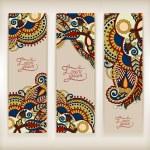 Set of decorative flower template banner — Stock Vector #64005499