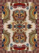 Ukrainian floral carpet design for print on canvas or paper — Vector de stock