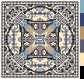 Geometric square pattern for cross stitch ukrainian traditional — Stockvektor
